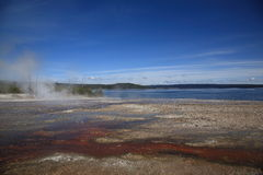 Yellowstone Park - West Thumb Geyser Basin Royalty Free Stock Photography