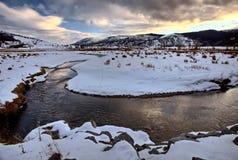 Yellowstone Park Wyoming. Winter Snow Royalty Free Stock Image