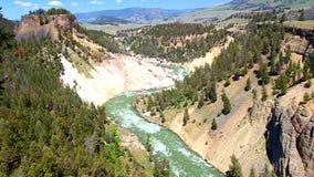 Yellowstone parka narodowego gwałtowni zdjęcie wideo