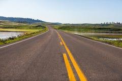 Yellowstone parka narodowego panorama Obrazy Stock