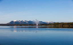 Yellowstone parka narodowego panorama Zdjęcia Stock