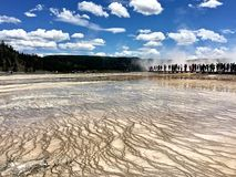 Yellowstone parka narodowego termiczne cechy gejzery zdjęcie royalty free