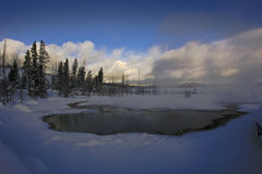 Yellowstone pool in Winter Royalty Free Stock Photos
