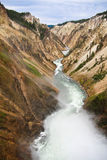 Yellowstone river. Above the waterfall on the Yellowstone river Royalty Free Stock Photos