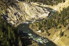 Yellowstone River Royaltyfri Fotografi