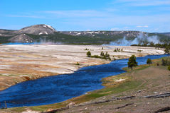 Yellowstone River Fotos de Stock Royalty Free