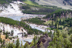 Yellowstone River flowing through Canyon Stock Images