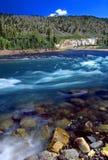 Yellowstone River kaskad Wyoming Royaltyfri Bild