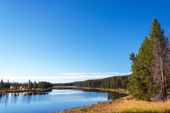 Yellowstone River Landscape stock photos