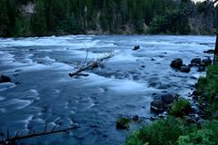 Yellowstone River at LeHardy Rapids Royalty Free Stock Photo