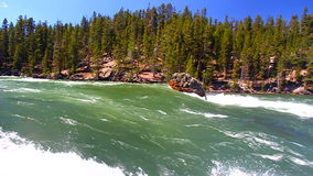 Yellowstone River Rapids stock video footage