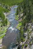 Yellowstone River seen from a distance. Stock Photos