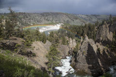 Yellowstone river in Tower Roosevelt Area Stock Photography