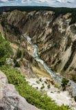 Yellowstone River und Schlucht Lizenzfreie Stockfotos
