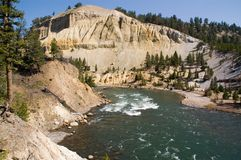 Yellowstone river and valley Royalty Free Stock Photos