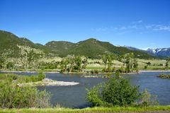 Yellowstone River Valley Royalty Free Stock Image