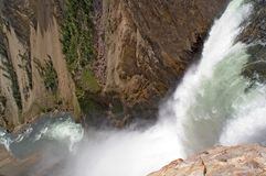 Yellowstone river waterfall abyss Stock Photos