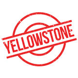 Yellowstone rubber stamp Royalty Free Stock Photos