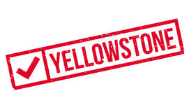 Yellowstone rubber stamp Royalty Free Stock Images