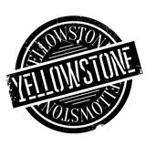Yellowstone rubber stamp Stock Image
