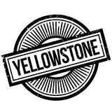 Yellowstone rubber stamp Royalty Free Stock Photography
