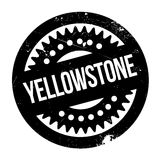 Yellowstone rubber stamp Stock Photos