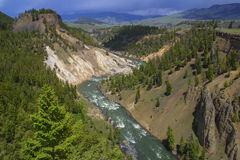 Yellowstone rzeka Obrazy Royalty Free