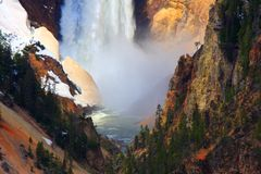 Yellowstone's Lower Falls, close-up Royalty Free Stock Photography