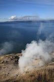Yellowstone See und heiße Frühlinge Lizenzfreies Stockbild