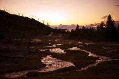 Yellowstone Sunset Stock Image