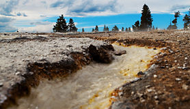 Yellowstone Thermal River Stock Photo