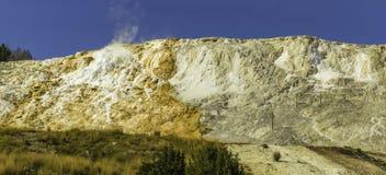 Yellowstone Thermalaktivitet Arkivfoton
