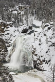 Yellowstone upper falls in winter Stock Photos