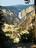 Yellowstone Upper and Lower Falls. The falls as seen from Artists' Point stock image