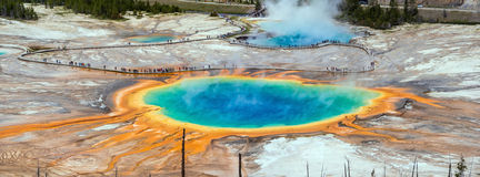 Yellowstone Uroczysta Graniastosłupowa wiosna Zdjęcie Royalty Free