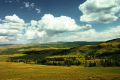 Yellowstone valley. Overview of Yellowstone valley USA Stock Image