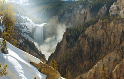 Yellowstone vattenfall Fotografering för Bildbyråer