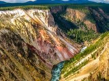 Yellowstone vermindert dalingen royalty-vrije stock foto