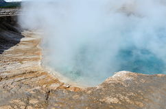Yellowstone vulkan Arkivbilder