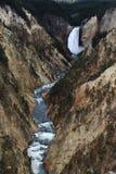 Yellowstone-Wasserfall Lizenzfreie Stockfotografie