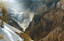 Yellowstone-Wasserfall Stockbild