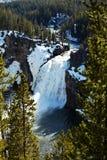 Yellowstone-Wasserfall Lizenzfreie Stockfotos