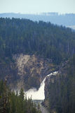 Yellowstone water fall Stock Photos