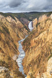 Yellowstone Waterfall. The view of the Yellowstone river along the twenty mile long canyon at Yellowstone National Park, Wyoming, USA Stock Photo