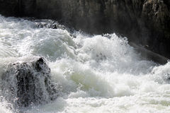 Yellowstone Whitewater. Photo of some harsh whitewater rapids in the Yellowstone River in Yellowstone National Park Stock Photography