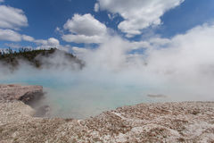 Midway Geyser Basin, Yellowstone, Wyoming, USA Royalty Free Stock Photography