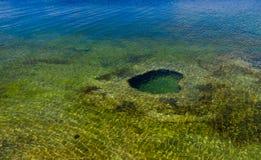 Yellowstonemeer van Yellowstone-Park stock foto's