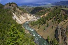 Yellowstonerivier Royalty-vrije Stock Afbeeldingen
