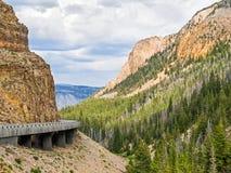 Guld- utfärda utegångsförbud för på Yellowstone Royaltyfria Bilder