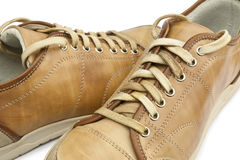 Yellowt shoes Stock Photo